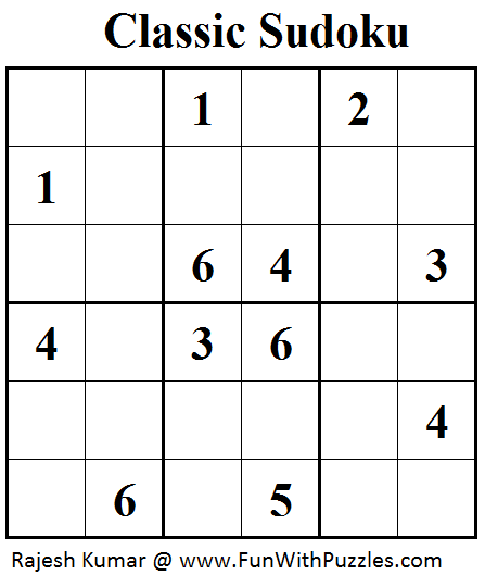 Classic Sudoku (Mini Sudoku Series #41) | Printable Puzzles