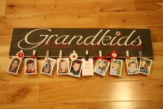 Great idea for grandparents!  They can easily switch pictures, because we all know they grow so fast.