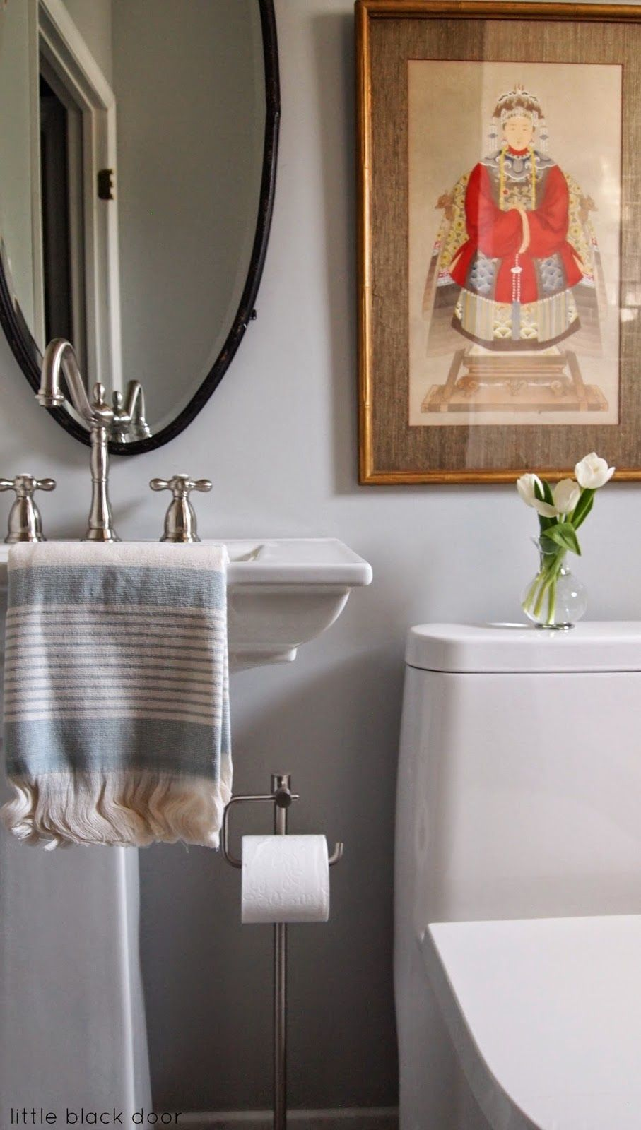 passive by sherwin williams - Bathroom design by Little ...