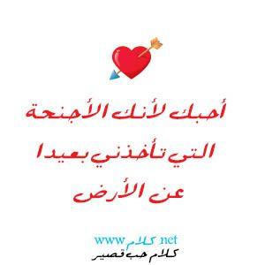كلام حب قصير شعر حب وغزل قصير للحبيب مكتوب علي صور Love Words Words Qoutes