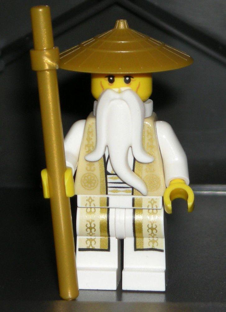 Lego Sensei Wu Ninjago Minifig Authentic New Gold Staff Temple Of Airjitzu 70751 Lego Ninjago Ninjago Lego