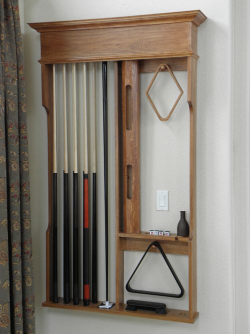 A pool cue rack i built my woodworking projects for Cue rack plans