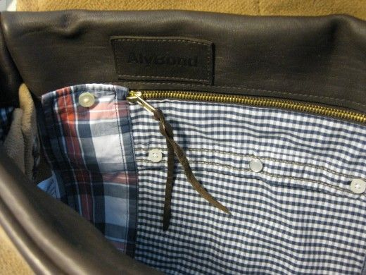 Large HENRY Messenger Bag with Crombie Coat and Abercrombie Shirts