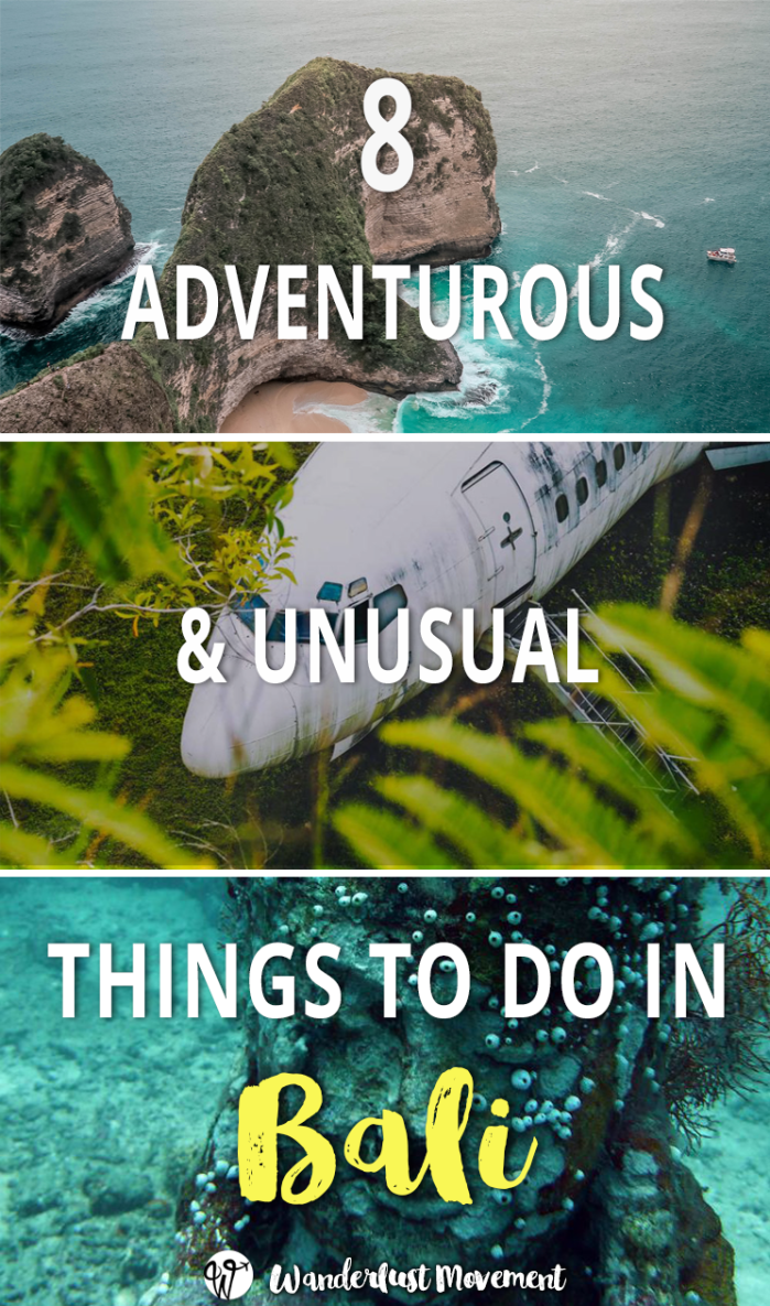 Unusual and Adventurous Things to Do in Bali Looking for adventurous and unusual things to do in Bali? Here are 8 activities that deserve a spot on any intrepid travellers Bali bucket list!