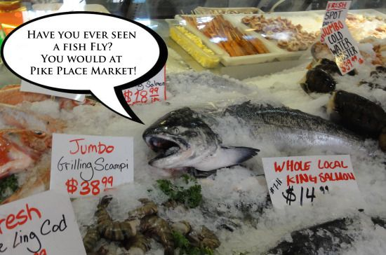 Silly fish meme about Pike Place Market
