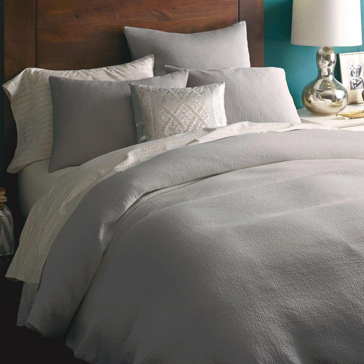 Organic Brighton Matelasse Quilt Cover + Pillow Shams - Platinum ...
