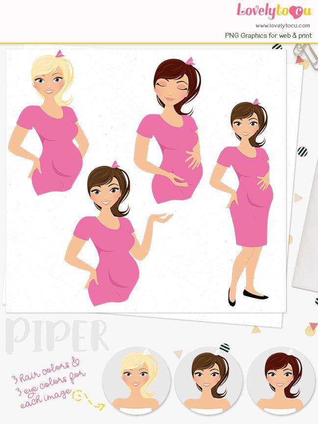 Maternity Clip Art Set Cute Little Girl Art Pinterest Clip Art
