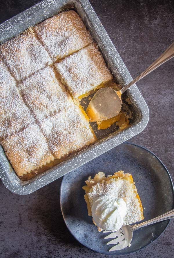 Peach Filled Italian Crostata Bars - An Italian in my Kitchen