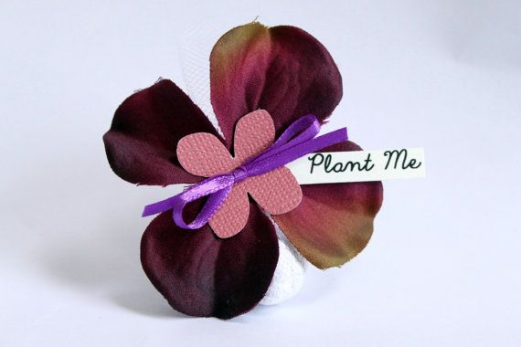 Sample Seed Bomb Wedding Favor  Plum Hydrangeas by BigRockPaperCo, $3.00