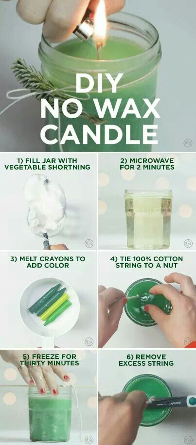 DIY no wax candle #candlecolormeanings