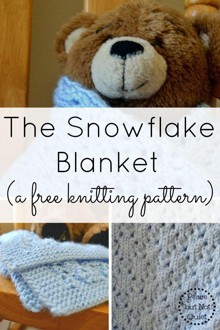 Snowflake Blanket Knitting Pattern