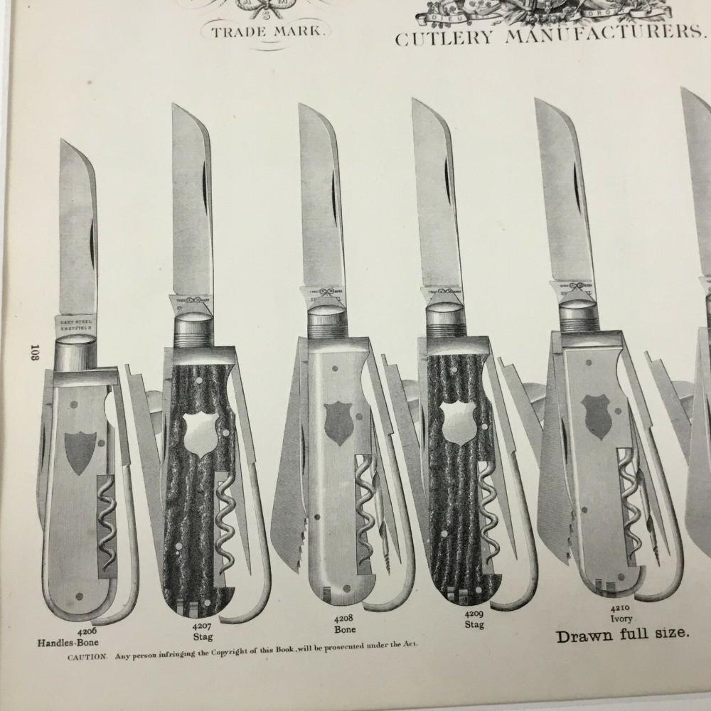 Victorien Antique Imprime Stylo Couteau Publicite 19th Siecle Ancien Shop Art Eur 44 73 Coltelli Da Caccia Coltelli Penna