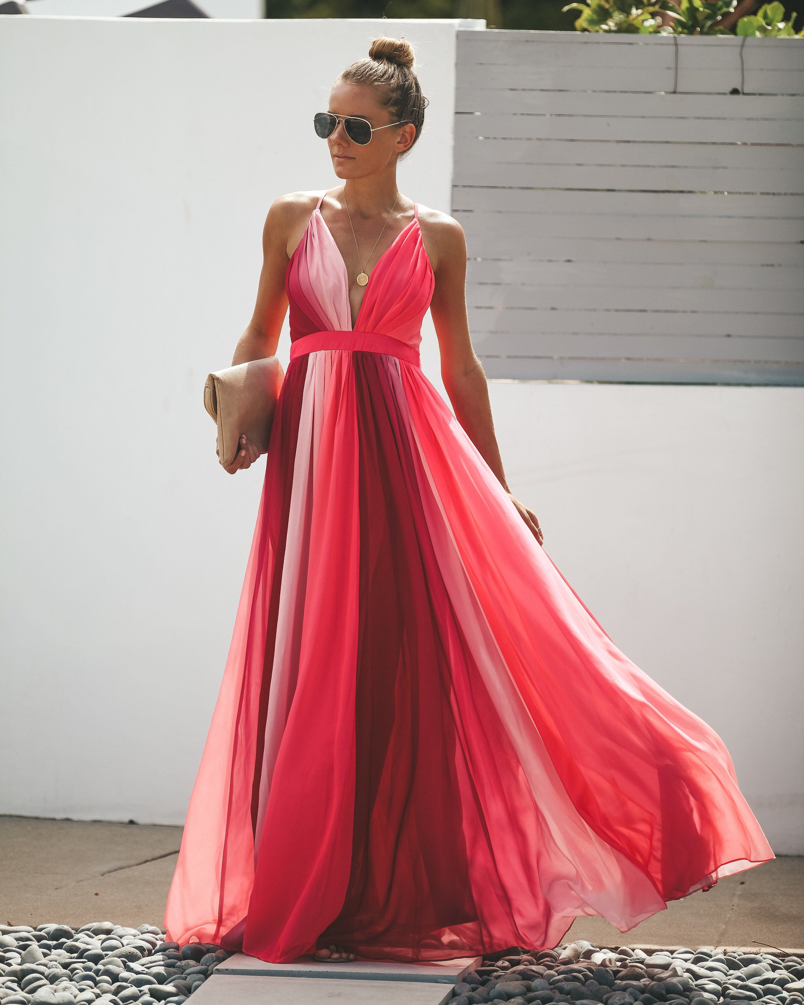 d1fab274b2a Beautiful Pink Maxi Dress - Data Dynamic AG