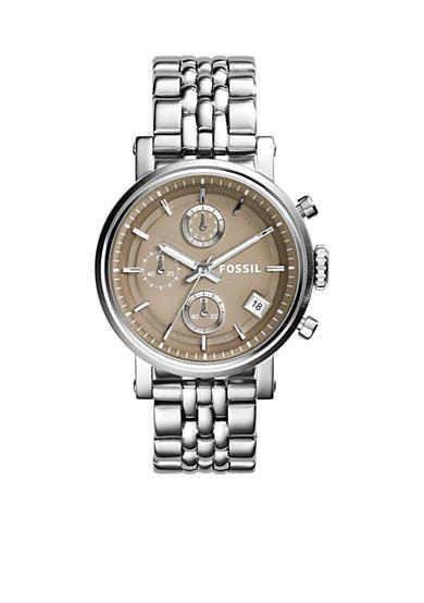 54a6552e1dbf Fossil® Women s Original Boyfriend Chronograph Stainless Steel Watch