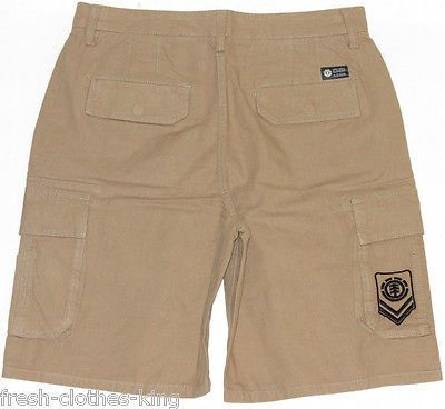 Element Shorts New Mens Beige Skateboard Cargo Size 32