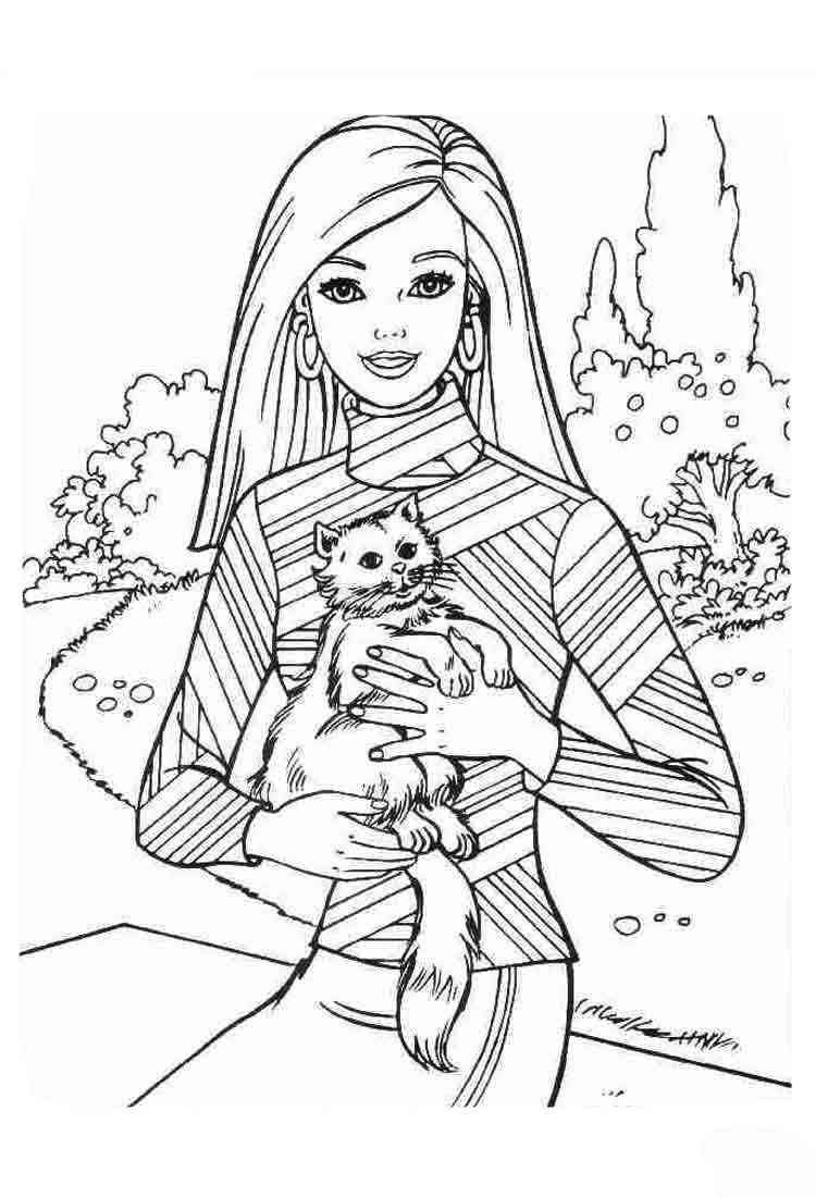 Barbie 23 Ausmalbilder Barbie Coloring Pages Cat Coloring Page Cartoon Coloring Pages