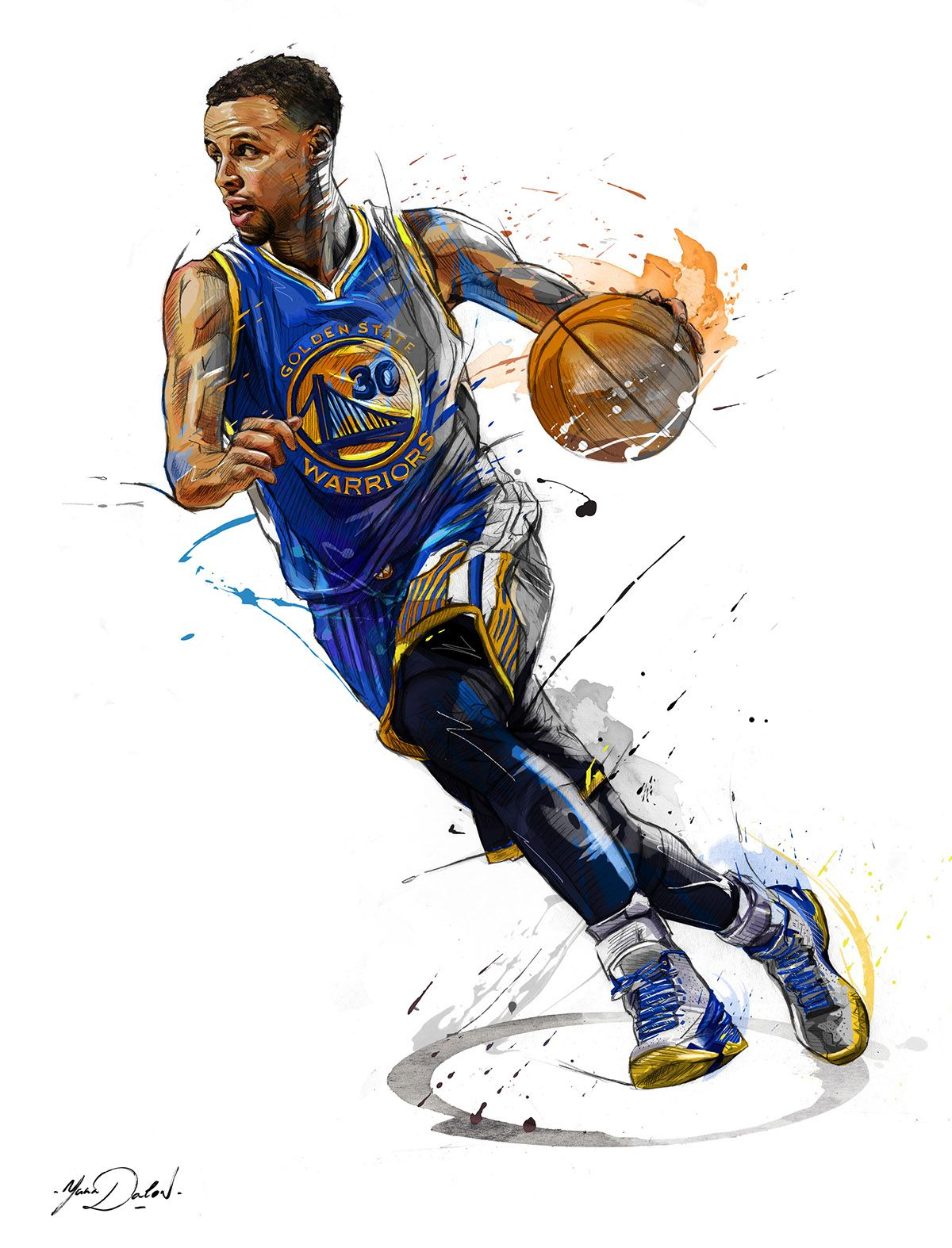 6825097b11b2 My work of painting and illustrations for the brand ENTERBAY and the NBA.