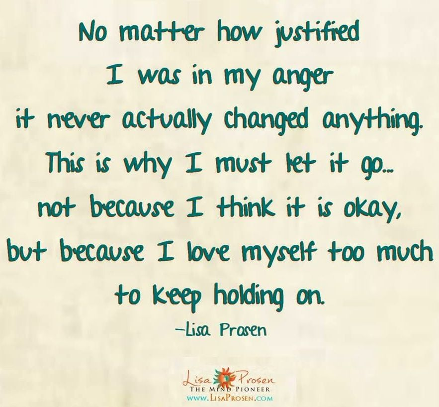 Let Go Of Anger Quote Via Wwwmyrenewedmindorg Sayingquotes