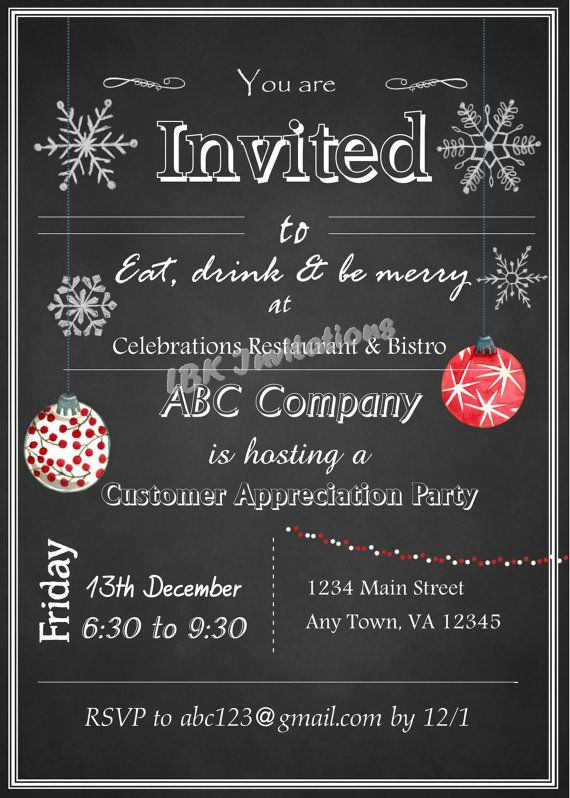 Christmas Party Invitiations with beautiful invitation template