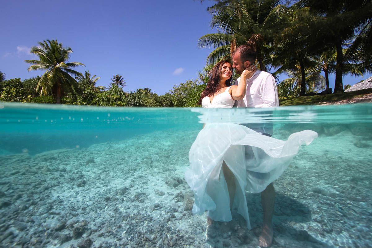 Trash the wedding dress in Bora Bora, French Polynesia   Trash ...