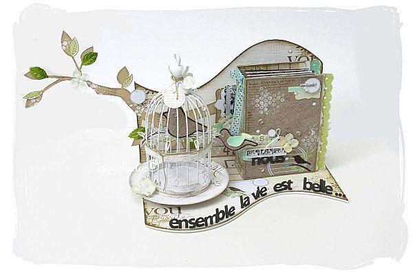 Minialbum decorativo con gabbia