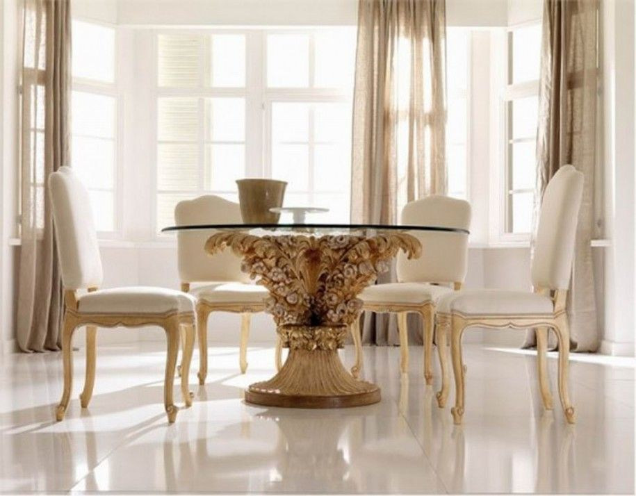 Modern Dining Room Decorating Ideas With Abstract Painting And Endearing White Dining Room Chairs Modern Design Inspiration