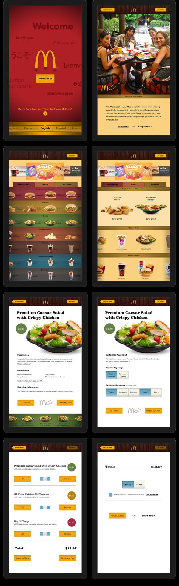 Interactive McDonald's Menu by Matt Volenec, via Behance