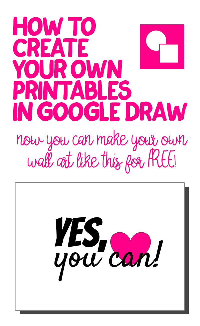 How to Make Your Own Printables in Google Drawings How