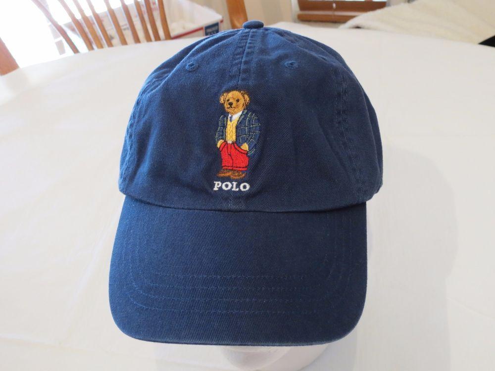 f902193ed64 Polo Ralph Lauren BEARS RARE bear hat cap golf navy 6512201 RL14 logo Men s  NEW  PoloRalphLauren  cap