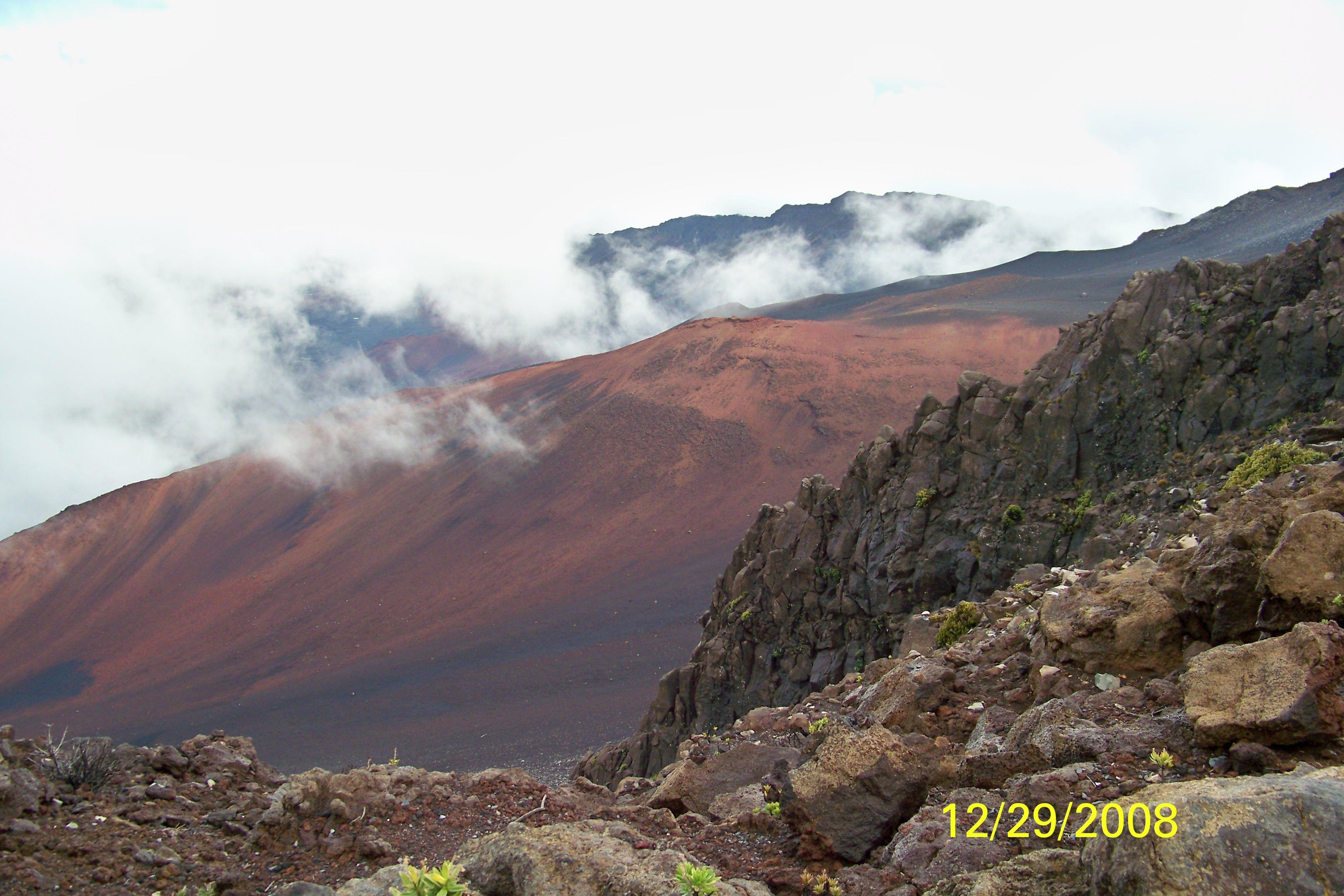 Maui-Haleakala Crater. rode a bike all the way down!