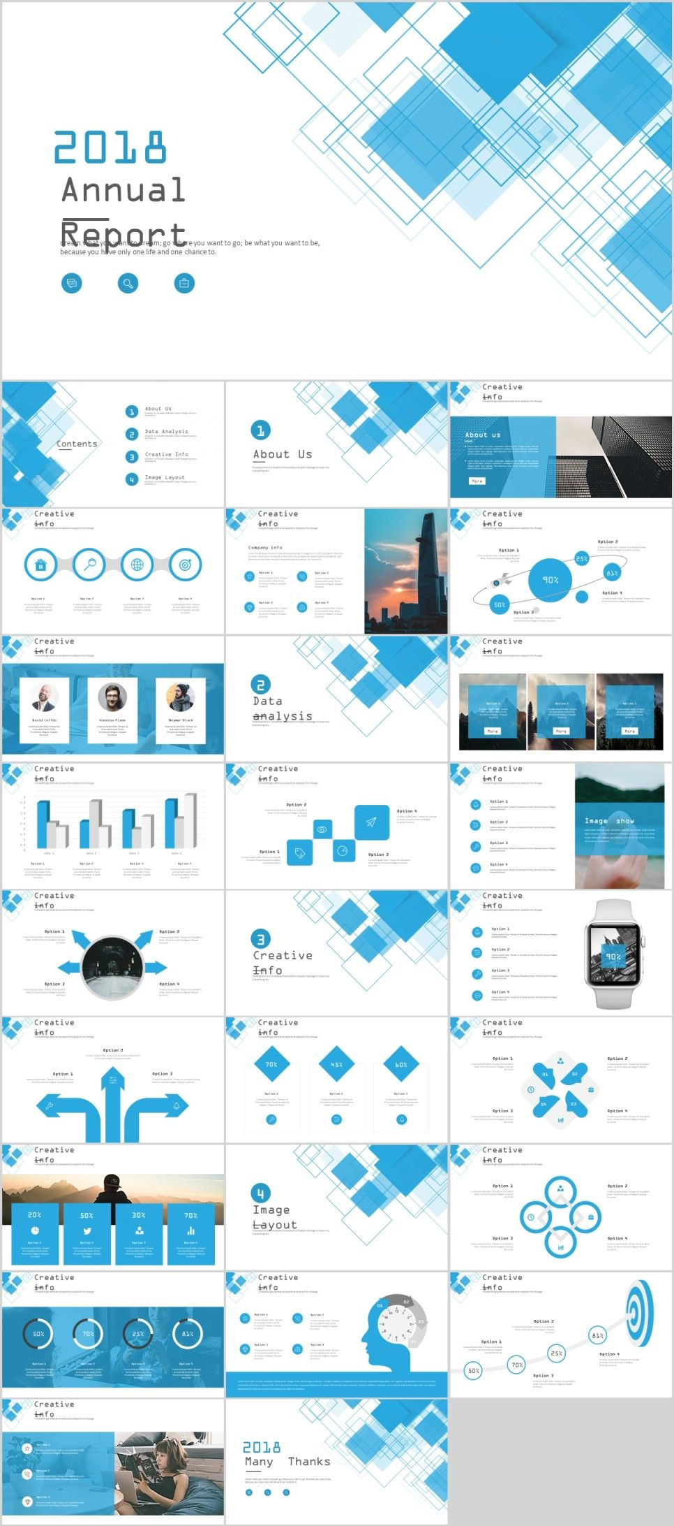27 Blue Business Year Plan Powerpoint Template Powerpoint Templates Creative Powerpoint Templates Business Powerpoint Templates
