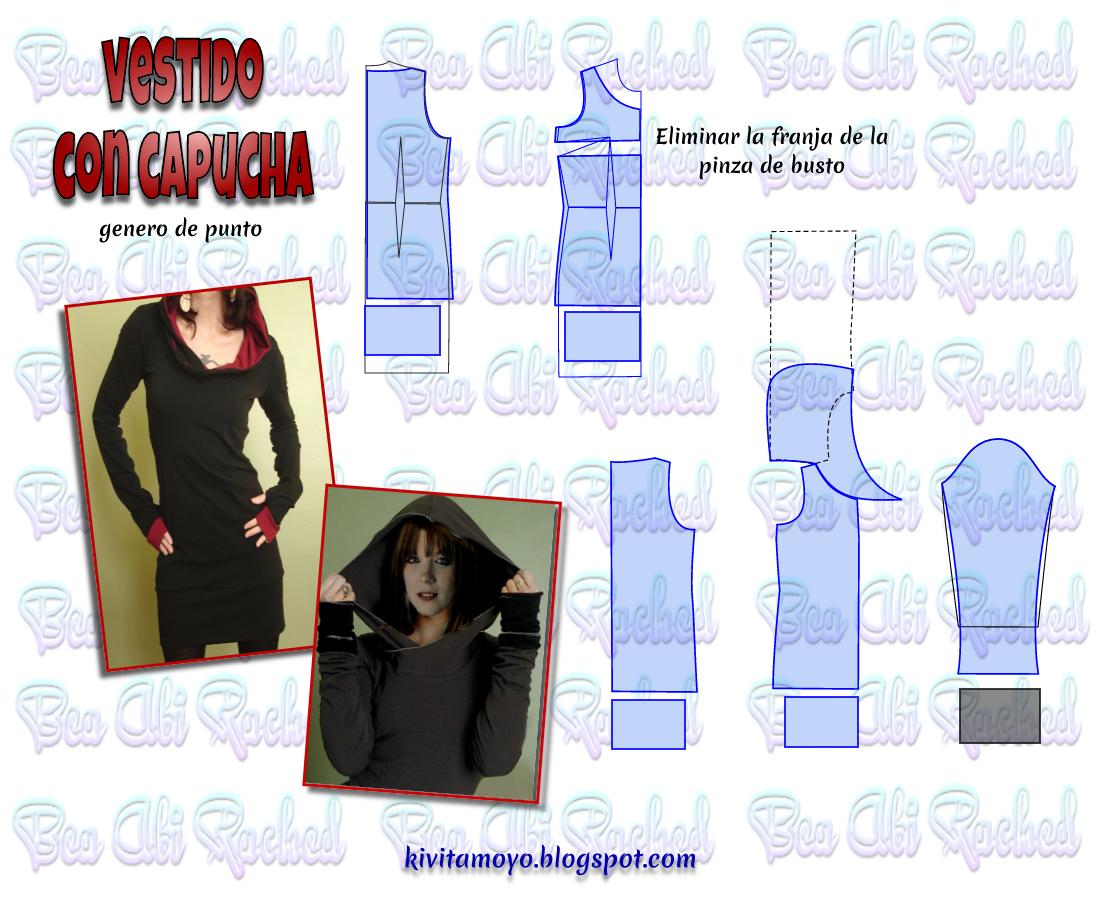 VESTIDO SUDADERA CON CAPUCHA | Modelos y Patrones | Pinterest
