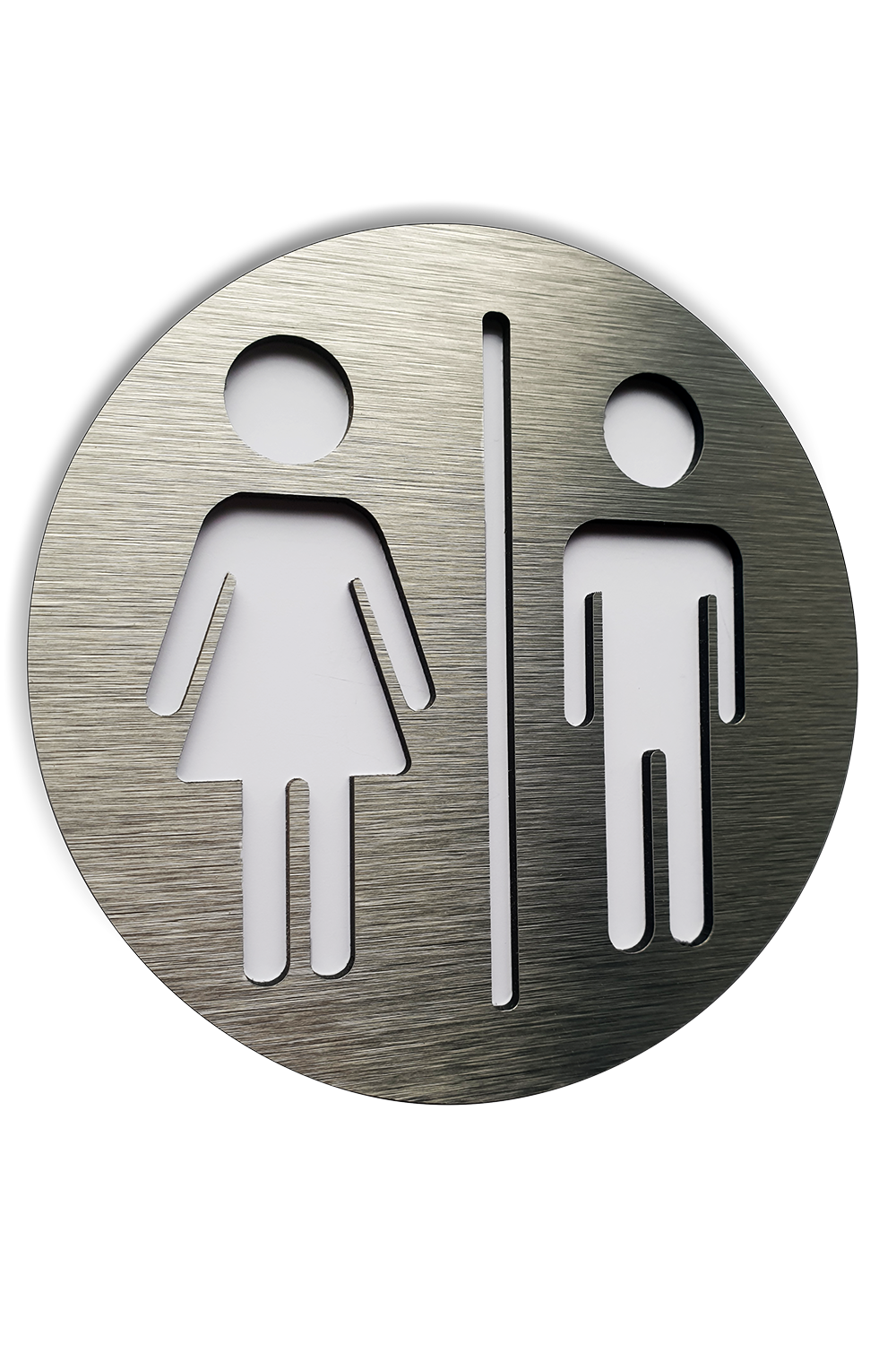 Silver Aluminium Male And Female Bathroom Sign Wc Square Signage Restroom 4 7 X 4 7 Plaque Bathroom Signs Sign Image Restroom Sign
