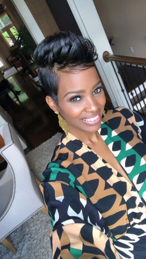 Natural Hair Updos for African American Short Hair #naturalhairupdo