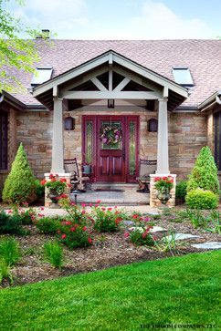 Pin by Laurie Anderson on Maison   House with porch, Front ... Ranch Home Front Entrance Designs on home with courtyard entrance designs, italian home front entrance designs, modern front door designs, front entrance patio designs, french country exterior home designs, house front entry designs,