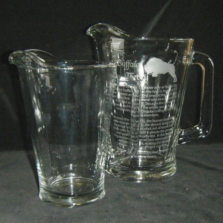 A sturdy personalized Beer Pitcher would be a nice addition to the backyard barbeques!