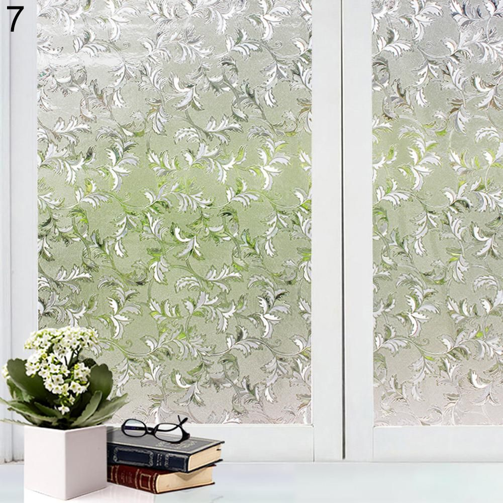 Photo of Decorative Privacy Frosted Window Glass Film Sticker Home Bathroom Waterproof – as the picture y