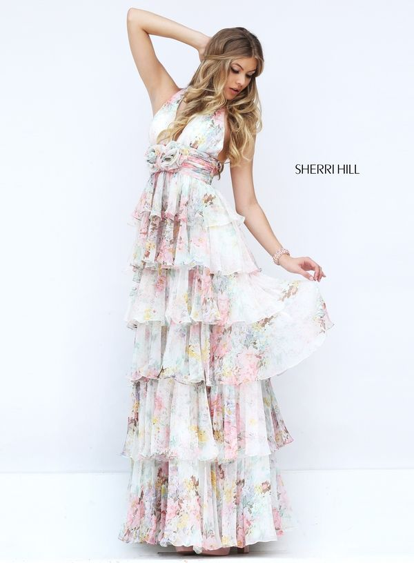 Sherri Hill Style 50273: Prom dress, boho chic, floral, ruffled ...