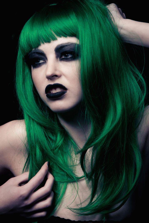 Green Hair Bailey Photography Woman Girl Fashion