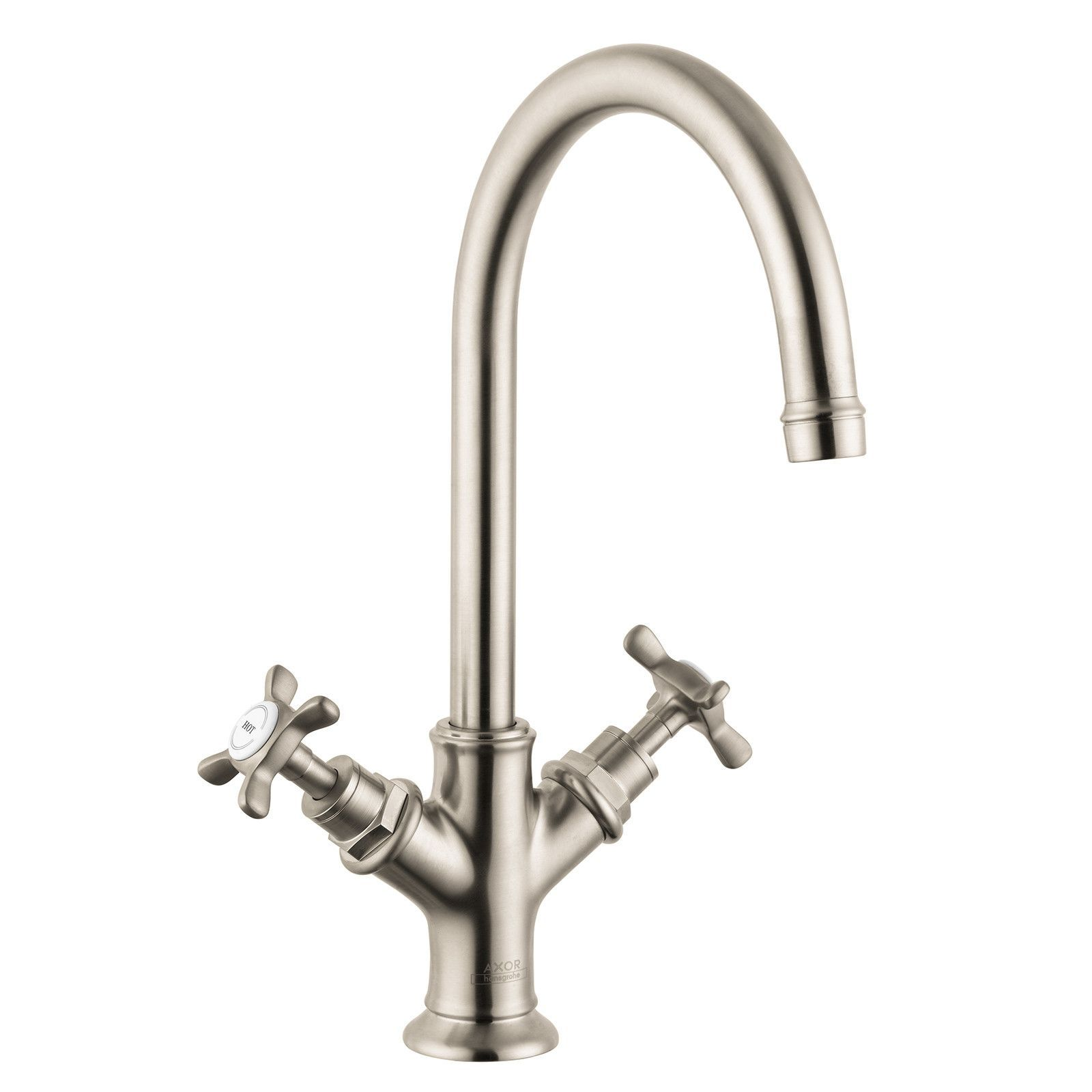 hansgrohe axor brushed nickel montreux bathroom faucet