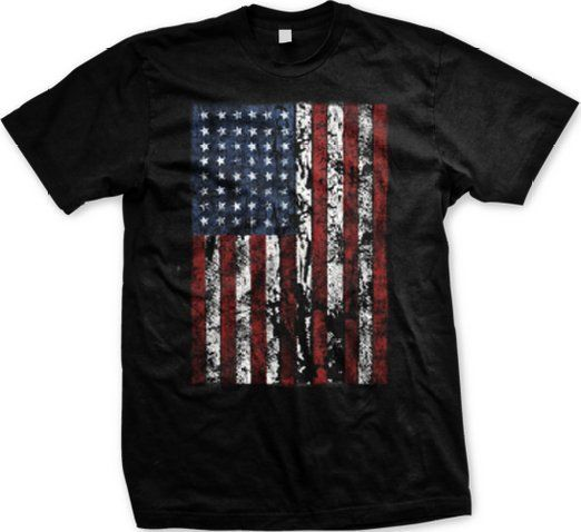 Distressed Tattered American Flag T Shirt Mens Tshirts Mens Shirts American Flag Tshirt