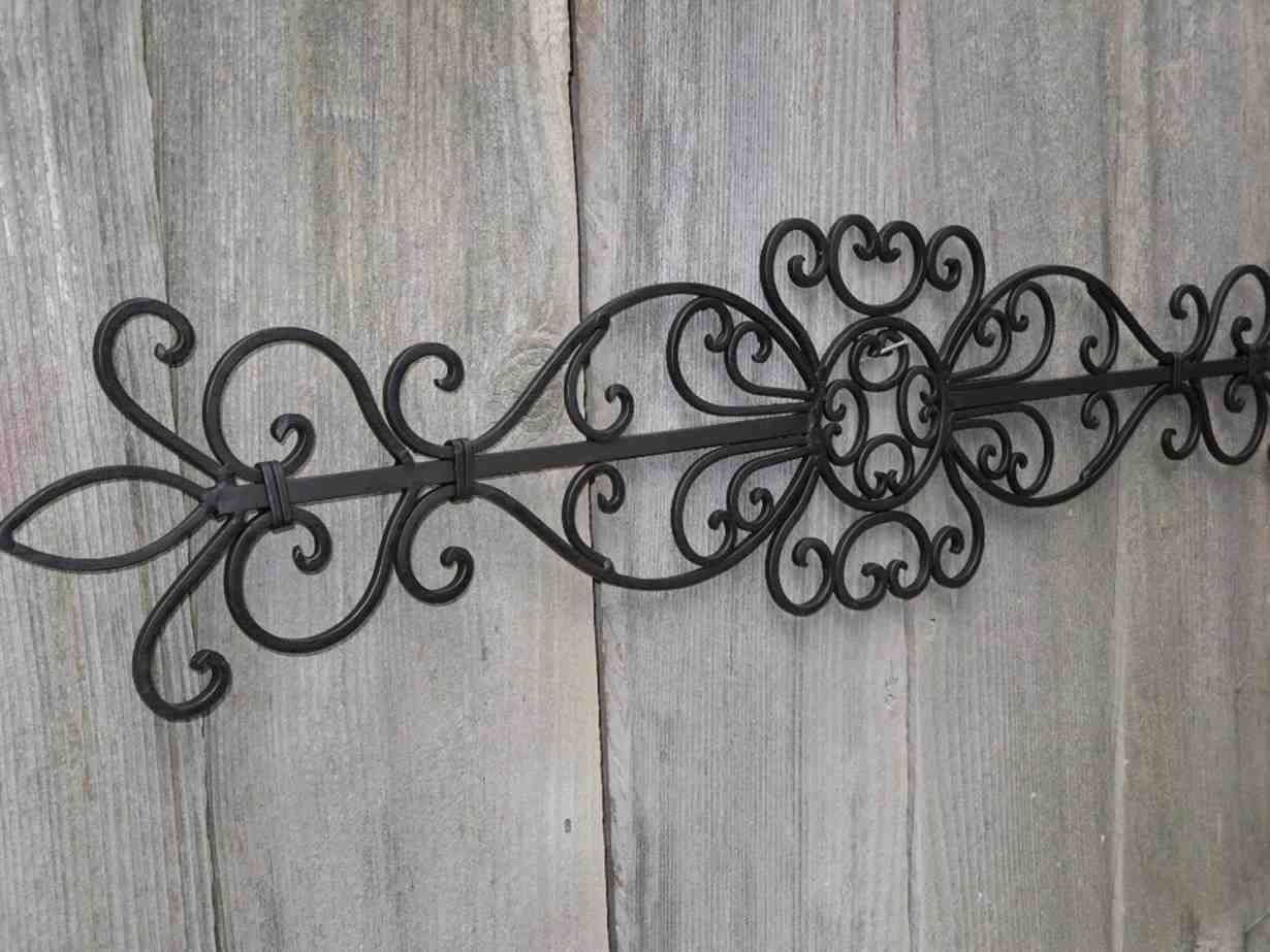 Black Wrought Iron Wall Decor Decorative Iron Wall Art Outdoor