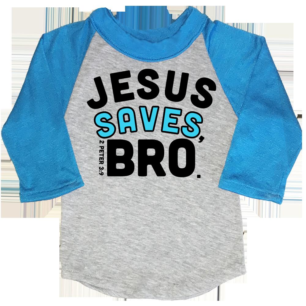 JESUS SAVES BRO Funny Kids Shirts