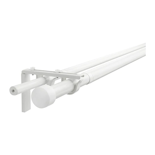 Double Curtain Rod Combination White 82 5 8 151 5 8 Double