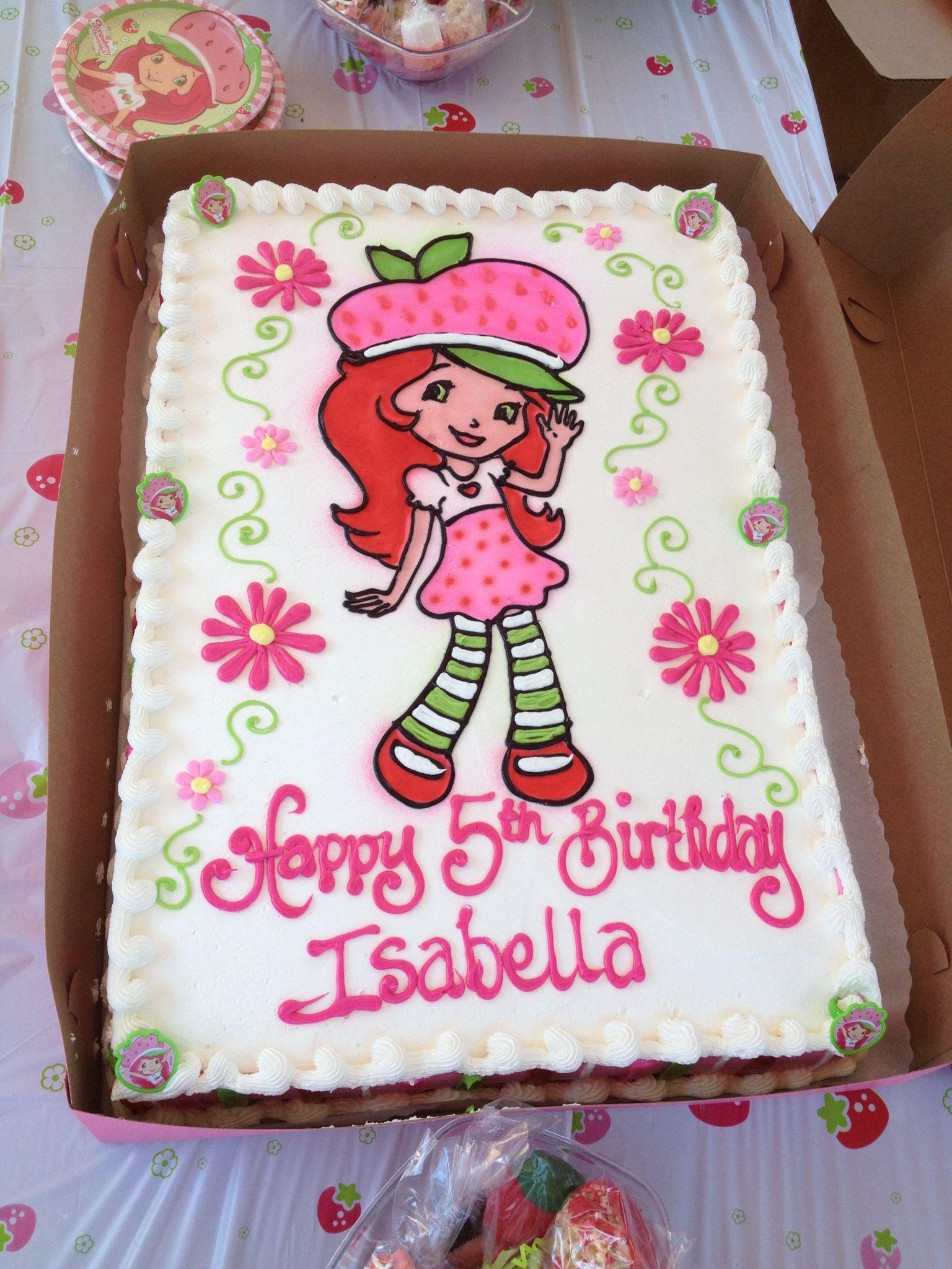 Strawberry Shortcake Birthday Cake By Ginas Piece Of Cake Santa