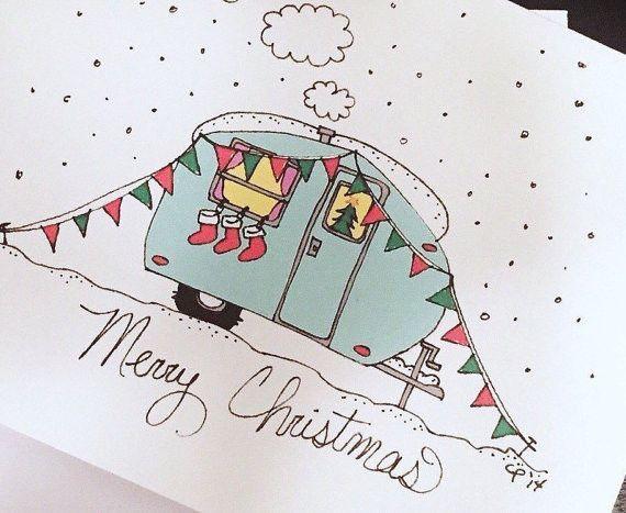 Holiday Camper Christmas Cards Karten