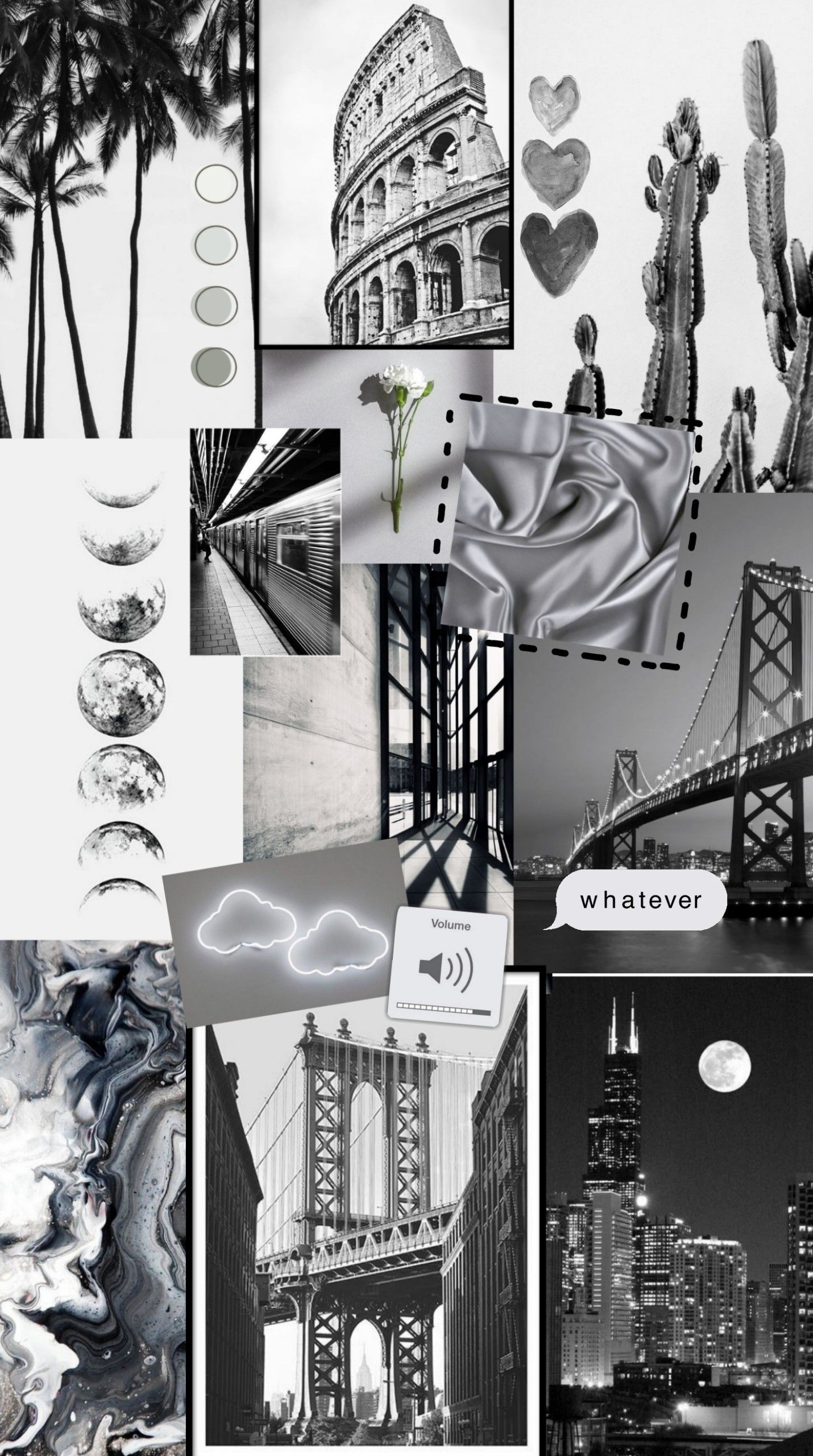 Grey Sky Cute Tumblr Wallpaper Edgy Wallpaper Iphone Background Wallpaper Cute black and white wallpaper