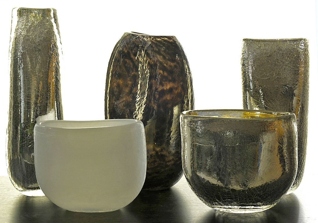Amphore Silver Glass Glass Artwork Glass Art Glass