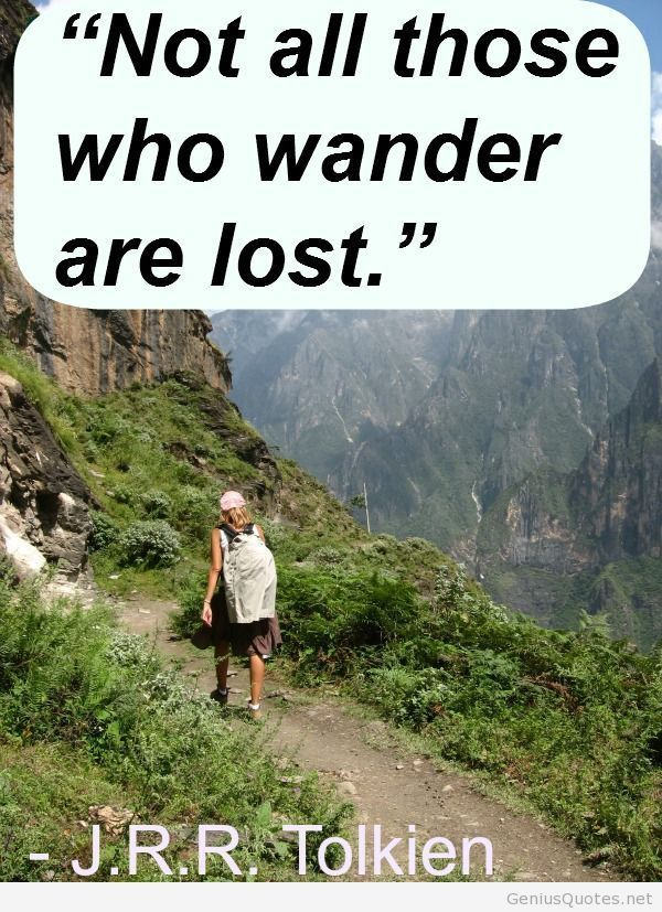 Wander lost travel images with quotes