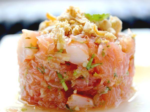 Salade tha e de pamplemousse crevettes recettes for Vers de salade